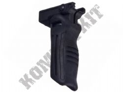 Tactical 3 Position Folding Support Vertical Foregrip Black Resin 20mm RIS Weaver Rail Mount